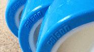Nieuw in ons assortiment. Blauwe PU wielen!